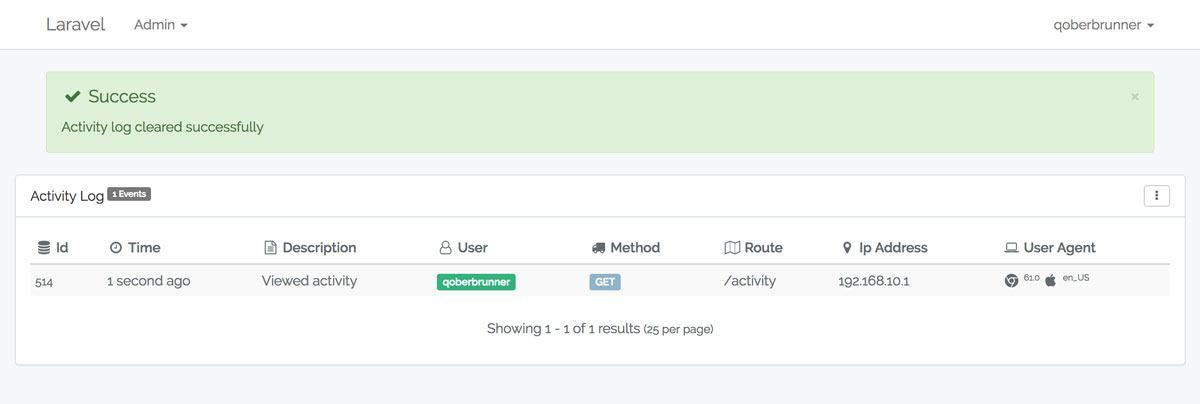 GitHub - jeremykenedy/laravel-logger: An out the box activity ...
