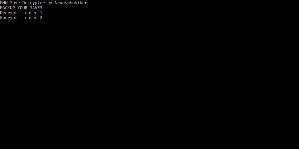 GitHub - Nexusphobiker/MHWSaveDecrypter: Save decrypter and