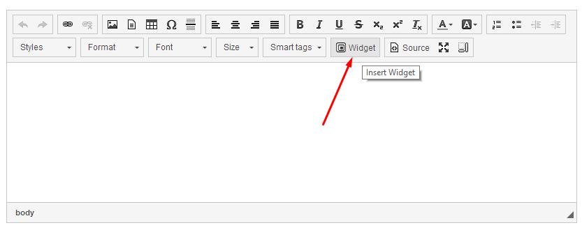 Insert widget to widget