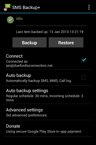 SMS Backup+ screenshot