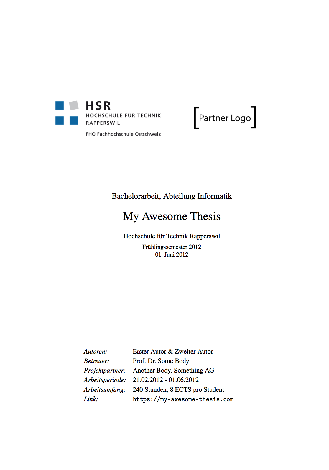 fbentele hsr latex template a latex template for hsr thesis preview