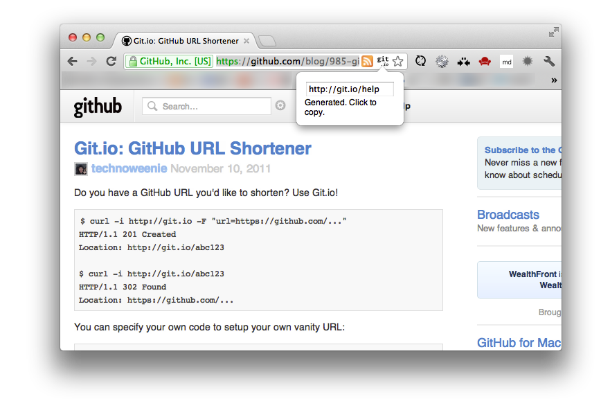 GitHub - chitsaou/git-io-shortener: Shorten GitHub URL with Git io