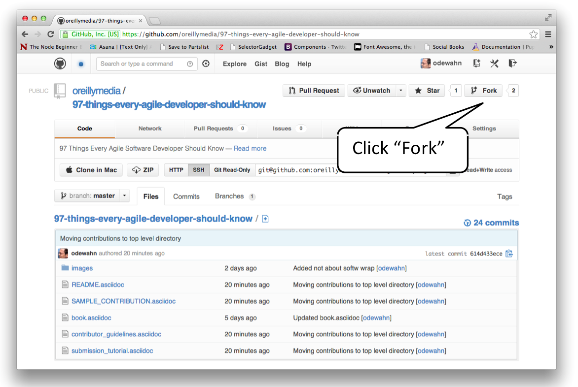 tutorial click fork
