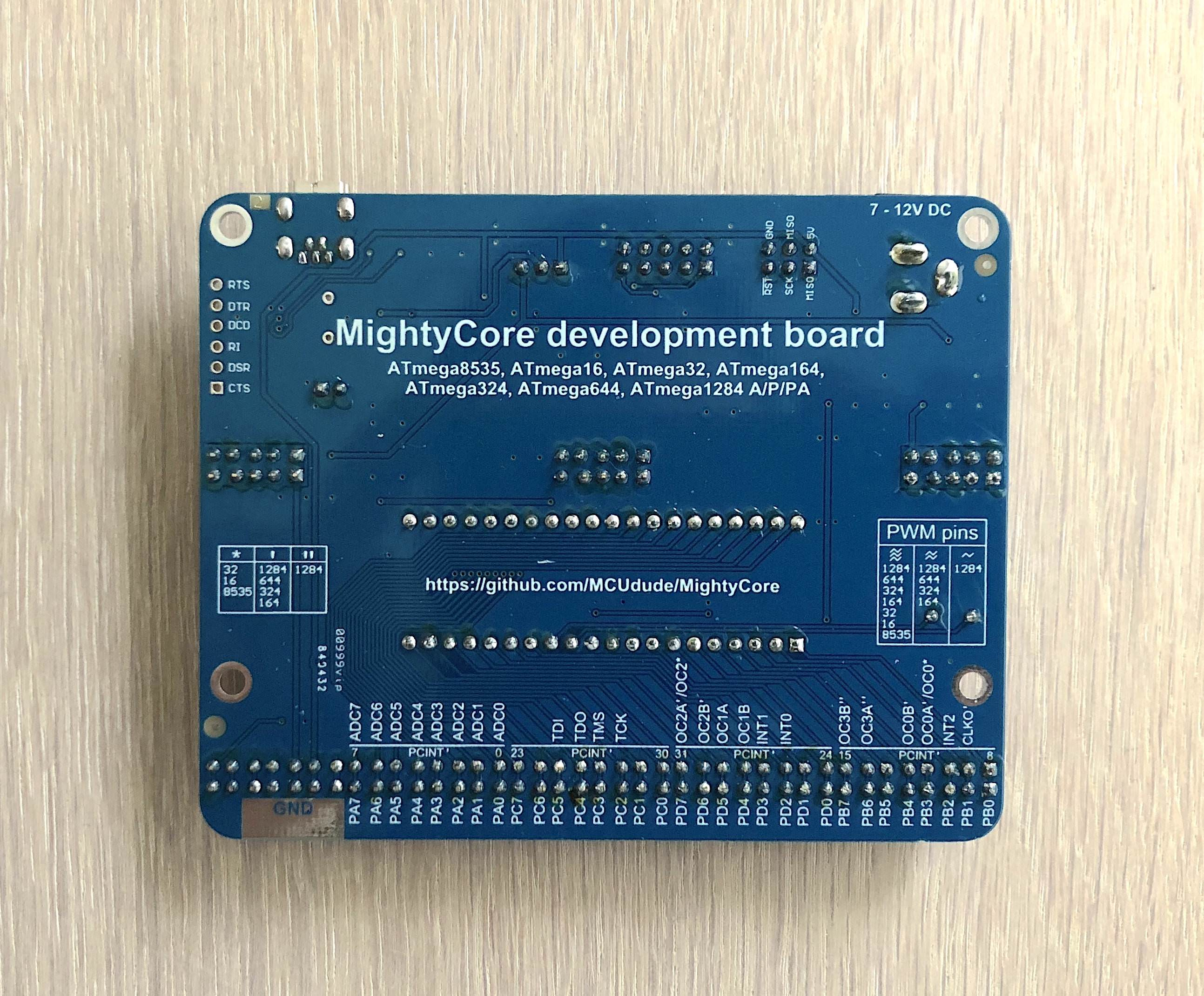 Github Mcudude Mightycore Arduino Hardware Package For Atmega1284 Work On An Nano Pinout Diagrams Big Dan The Blogging Man Development Board Back