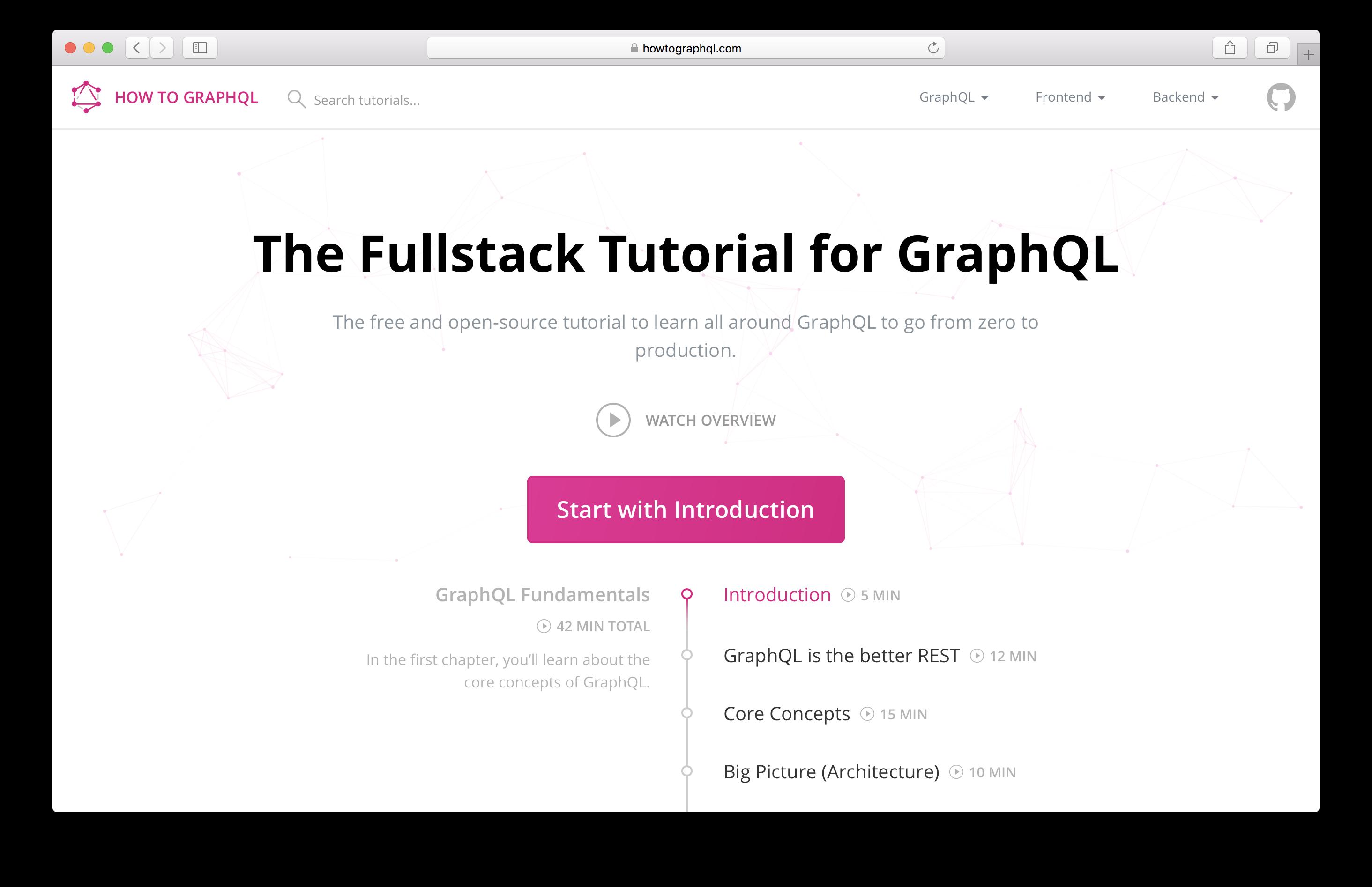 GitHub - howtographql/howtographql: The Fullstack Tutorial