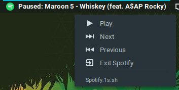 Spotify extension screenshot