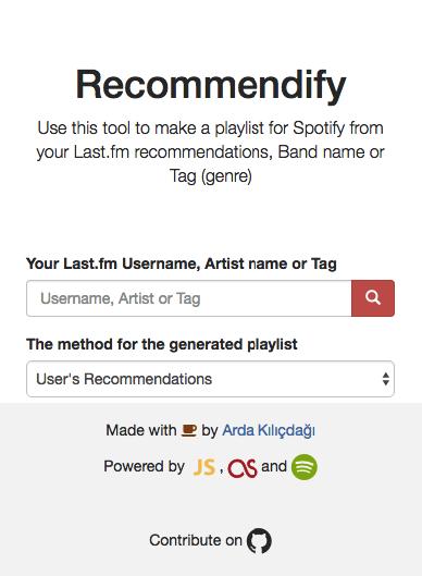 GitHub - Ardakilic/Recommendify: A service that makes