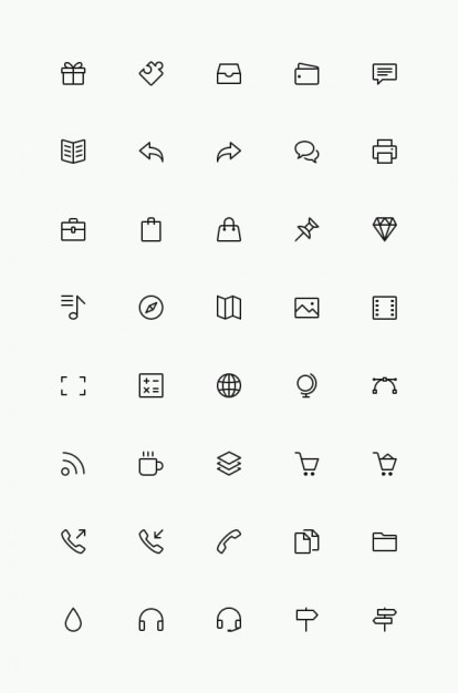Simple Line Icons sample