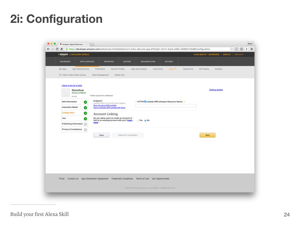 Step 2i: Configuration