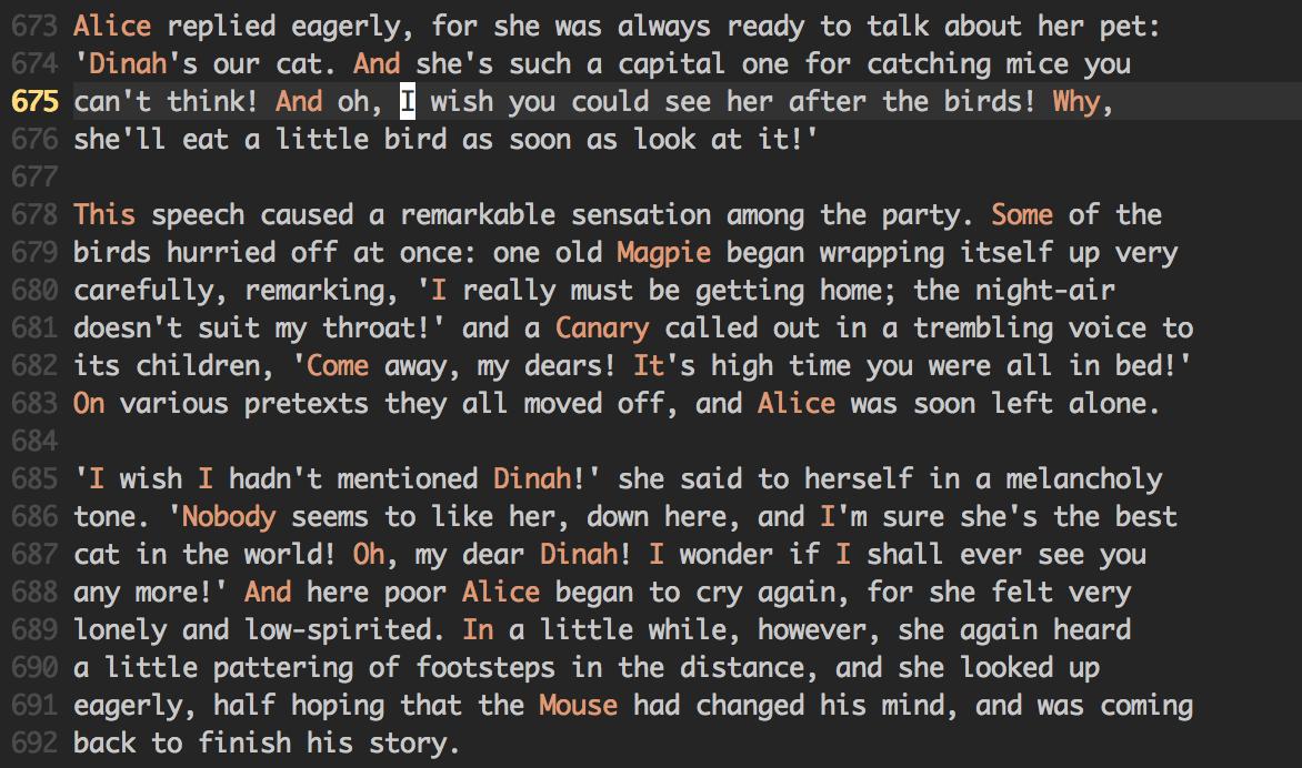 Plain-text Syntax Highlighting