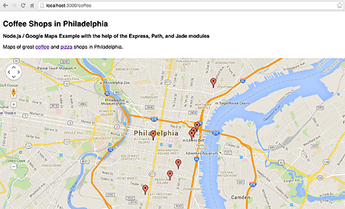 Github Michaelcknodejs Googlemaps Example A Simple Example Of A