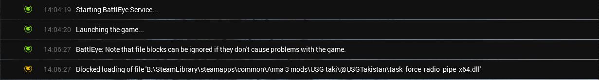 Battleye is blocking TFR 64 bit · Issue #1274 · michail-nikolaev