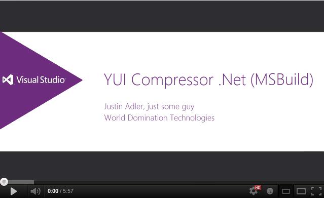 Using YUI Compressor .NET (MSBuild