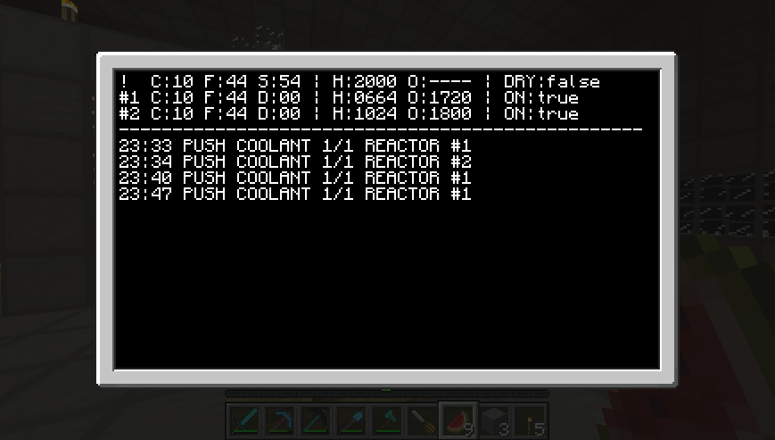 Power Plant Console Screenshot