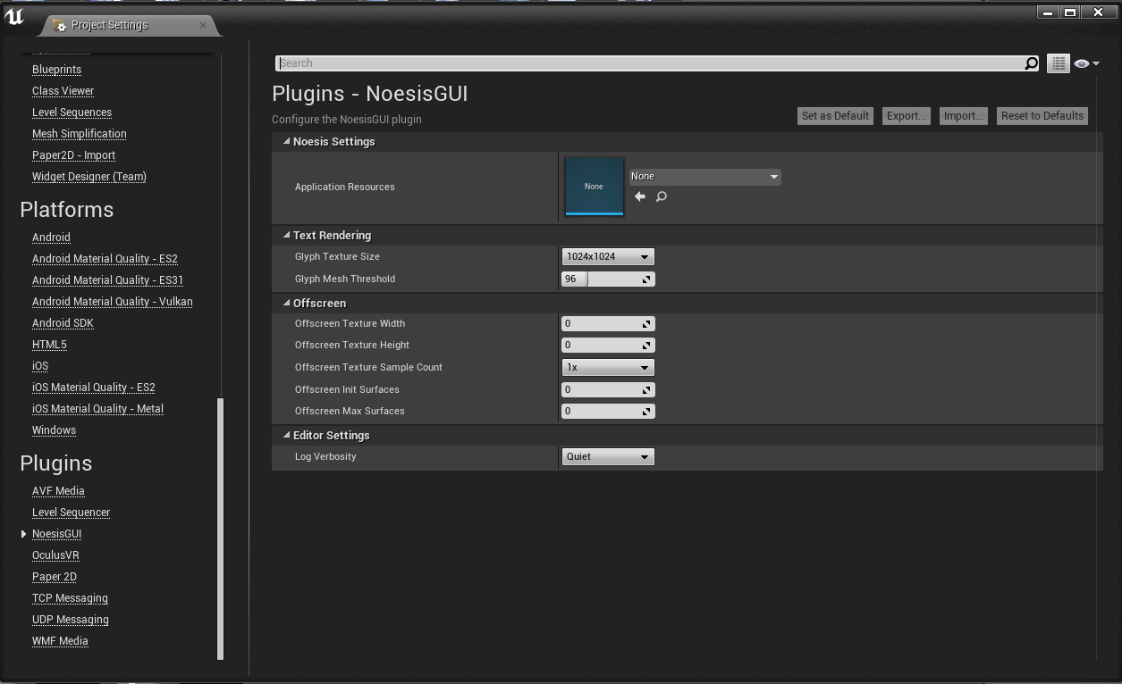 GitHub - Noesis/UE4Plugin: NoesisGUI Integration to UE4