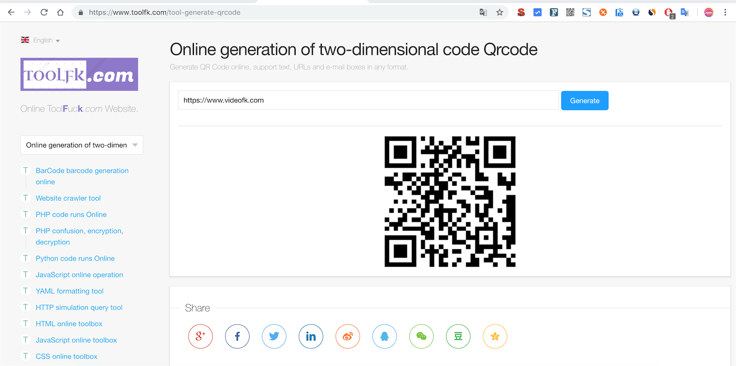 JavaScript Qrcode online for two dimensional code generation