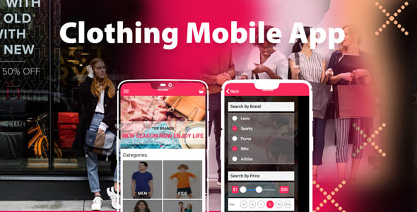 Ionic clothing mobile app