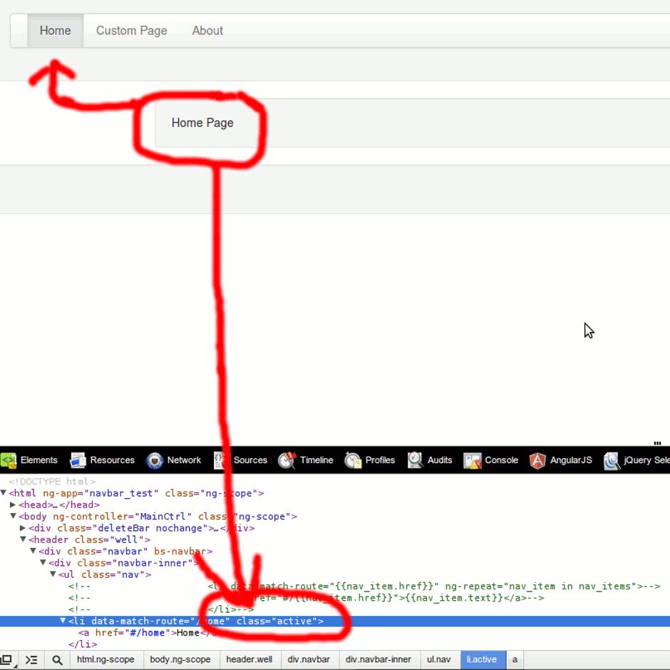 bs-navbar don't add active class when the menu is