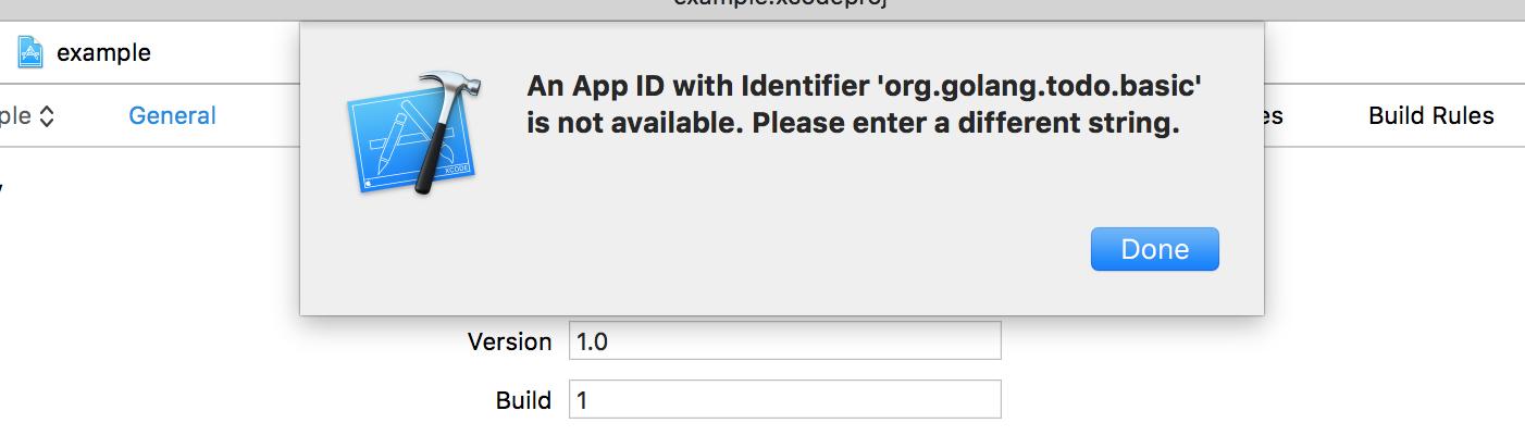 Image of stolen bundle identifier