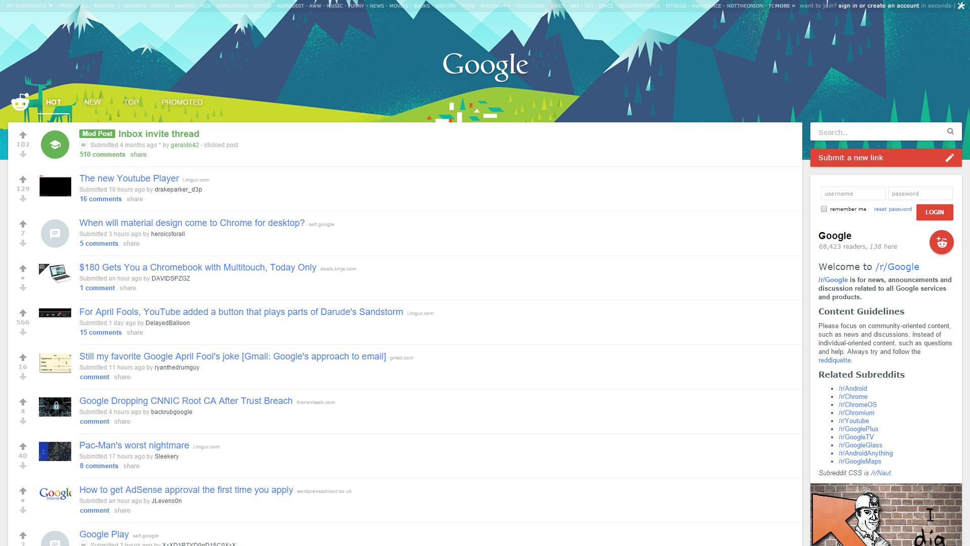 Google themes reddit - Installation Instructions