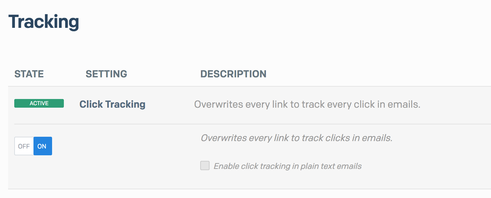Click tracking