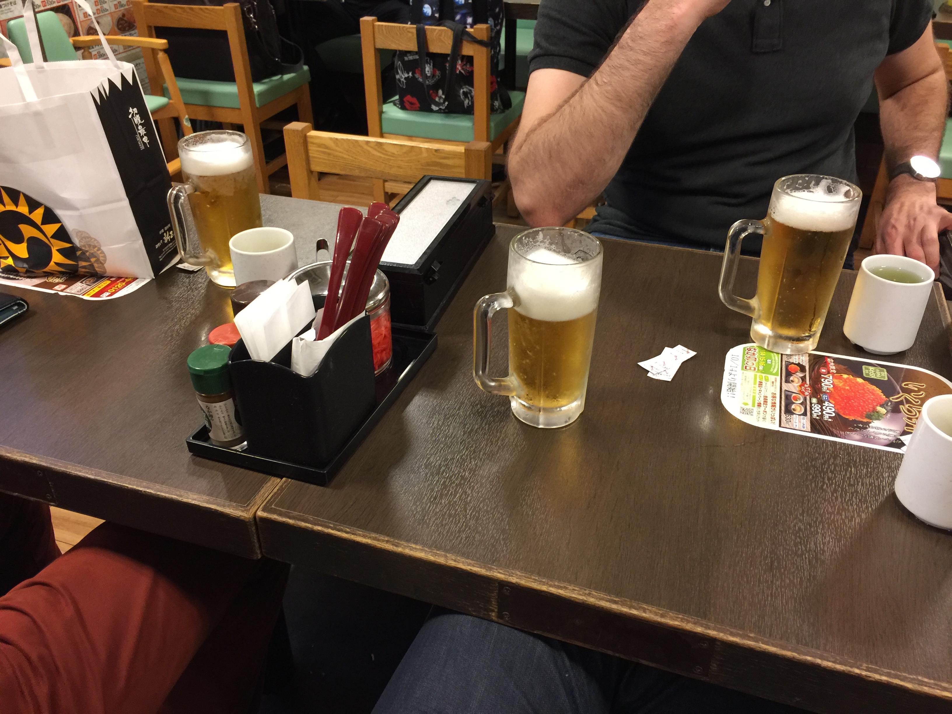 ビールと軽食