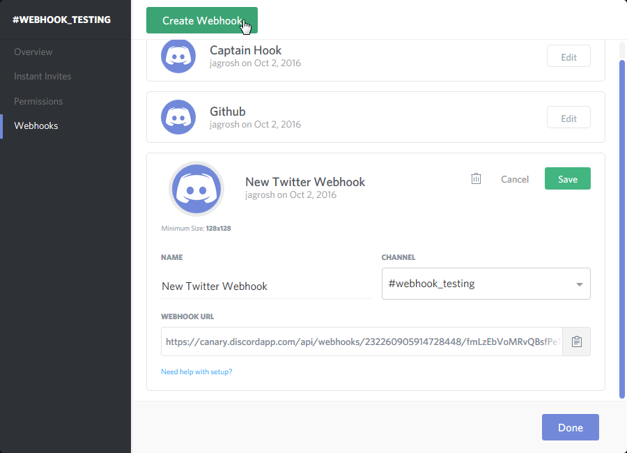 Simple Webhook Tutorial (Twitter -> Discord) · GitHub