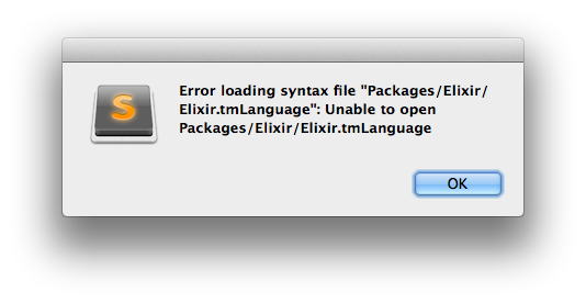 Error loading syntax file