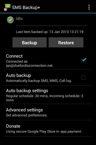 SMS Backup+ holo