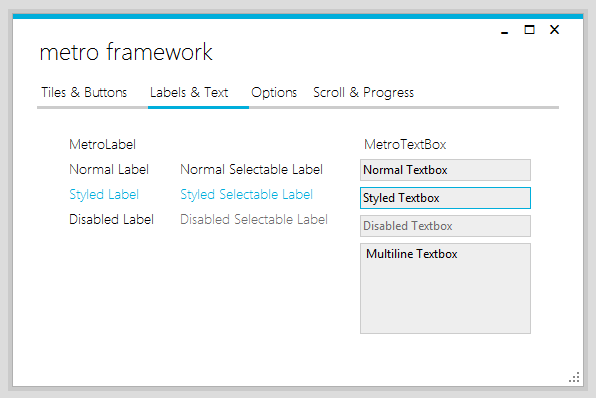 how to use metro framework.dll