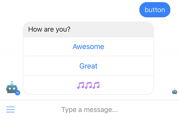 Creare un chatbot: i pulsanti in Facebook Messenger