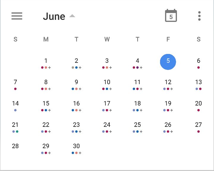 Mutliple dots for multiple events on the same day · Issue