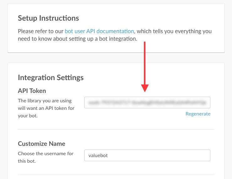 Slack Bot API Token