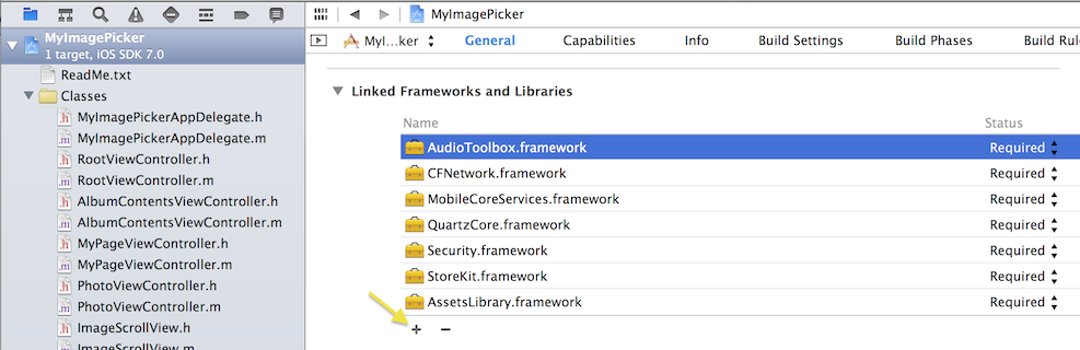 Screenshot - Add Frameworks and Libraries
