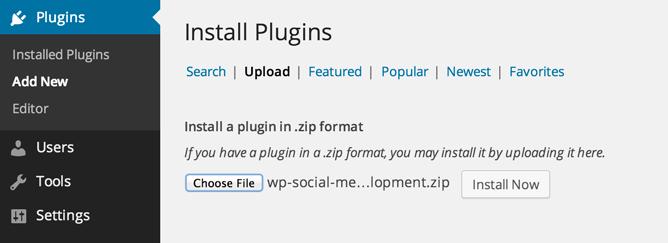 uploading the plugin