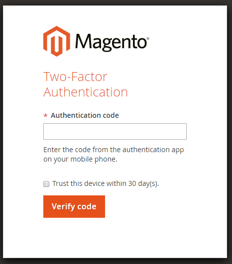 Magento 2 Two Factor Authentication