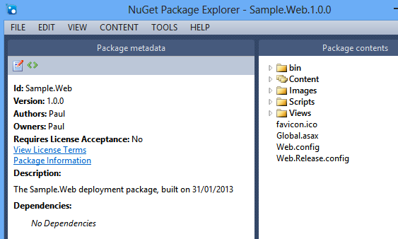 ASP.NET package