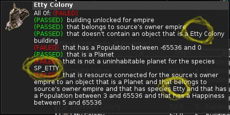 Screenshot showing the bug