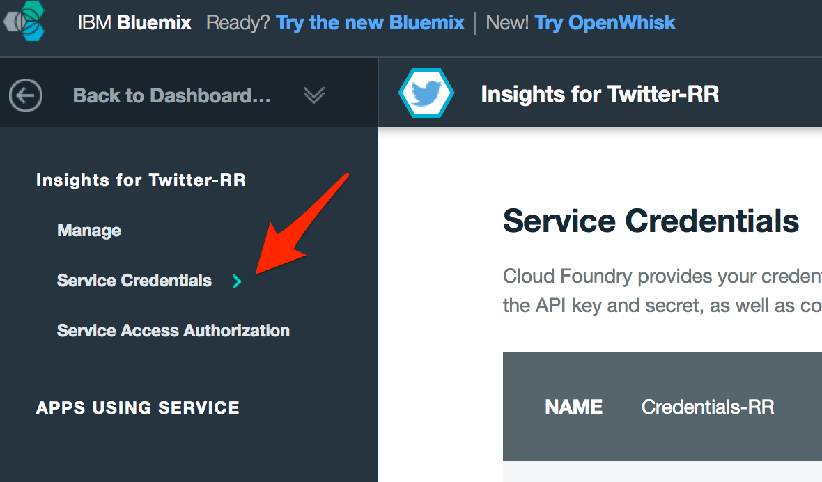 bluemix-tt-credentials
