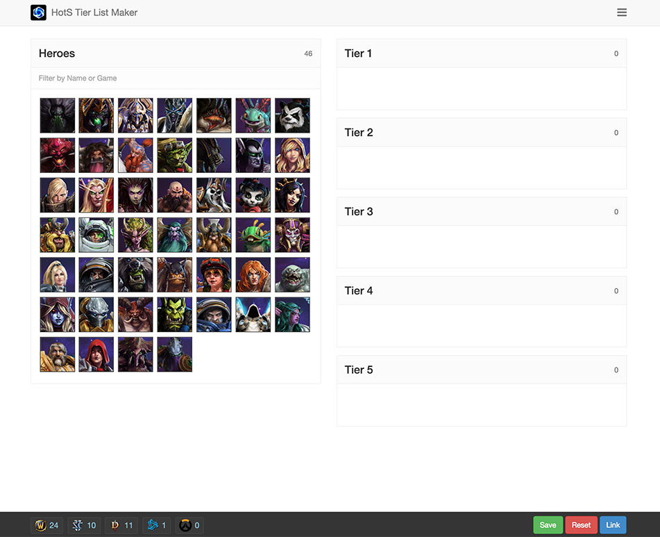 GitHub - elzii/hots-tier-list: Heroes of the Storm Tier List