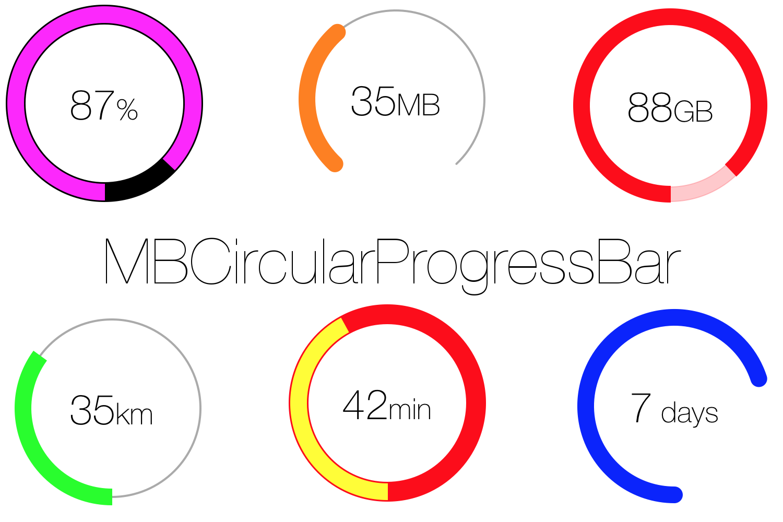 GitHub - MatiBot/MBCircularProgressBar: A circular