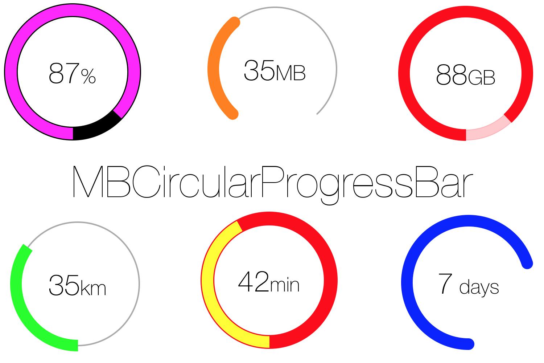 GitHub - MatiBot/MBCircularProgressBar: A circular, animatable