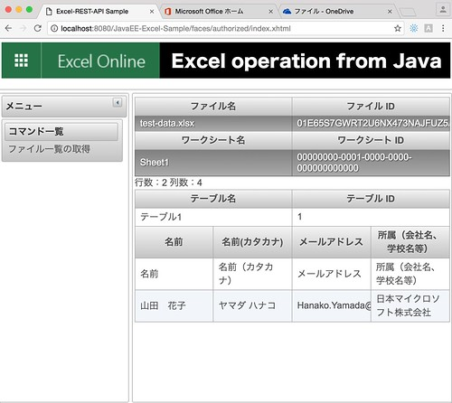 GitHub - yoshioterada/Office-365-Excel-REST-API-for-Java: This is