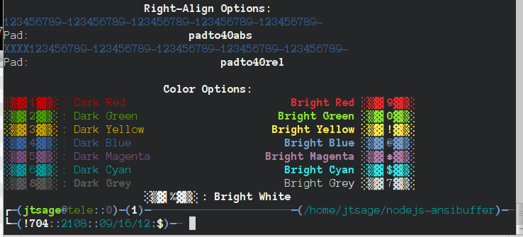 Linux Color Options