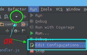 打开Edit Configurations对话框