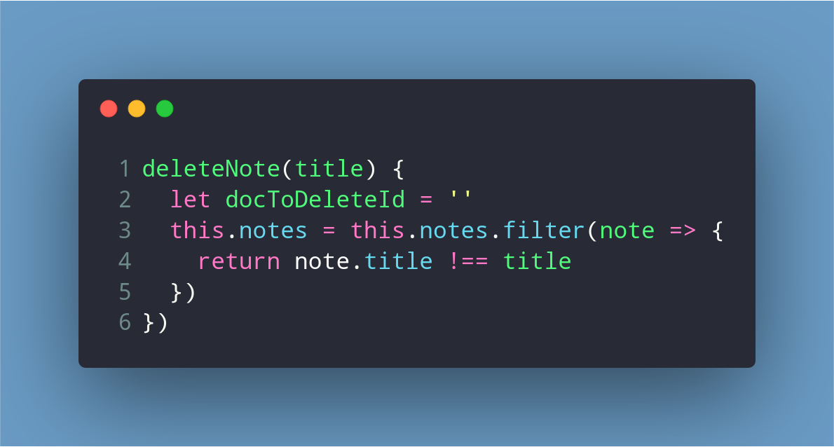 Deleting note from the array