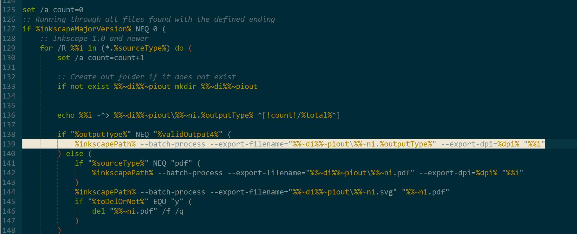 Script change position