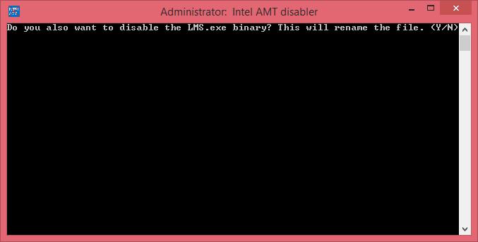 Intel AMT disabler