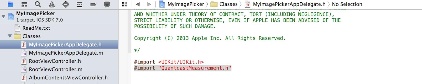 Screenshot - Import Header