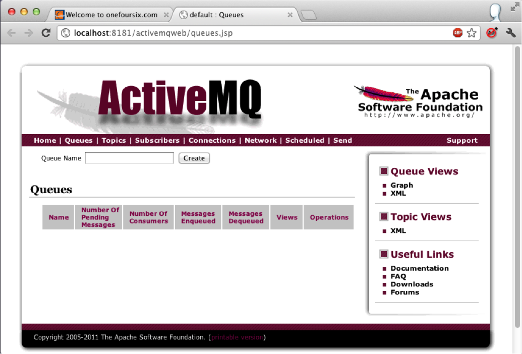 ActiveMQ Web Console Image